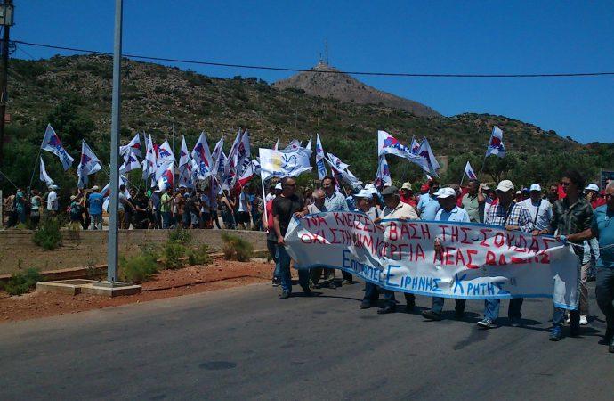 Μαζική παγκρήτια κινητοποίηση των Επιτροπών Ειρήνης έγινε στα Χανιά