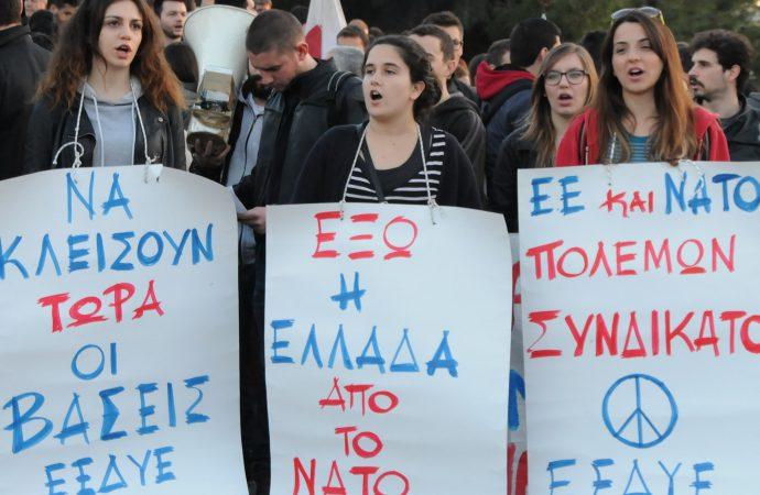 Μαζική διαμαρτυρία ενάντια στην παρουσία του ΝΑΤΟ στο Αιγαίο