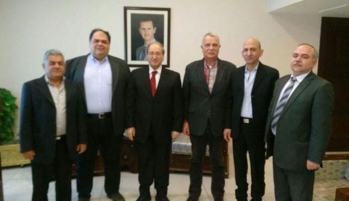 Παγκόσμιο Συμβούλιο Ειρήνης: Με επιτυχία η επίσκεψη αντιπροσωπείας στη Δαμασκό