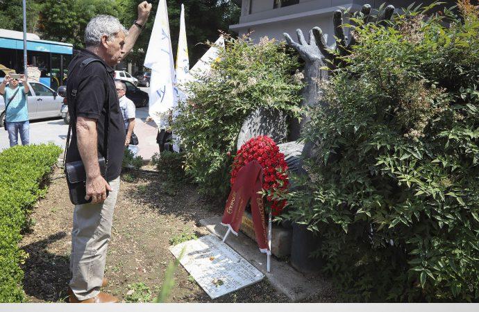 ΕΔΥΕΘ: Κατάθεση στεφάνων στο μνημείο του Γρ. Λαμπράκη