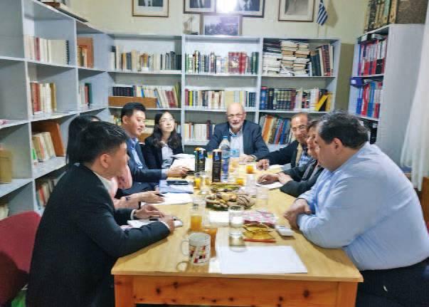 Αντιπροσωπεία της Κινέζικης Επιτροπής Ειρήνης στην Αθήνα