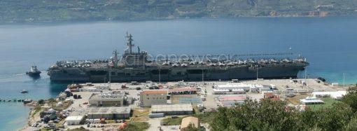 Ανακοίνωση για τον ελλιμενισμό στη Σούδα του αεροπλανοφόρου των ΗΠΑ «USS Dwight D. Eisenhower»
